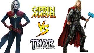 Thor vs Captain Marvel Who's Winner ???