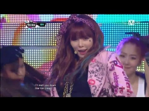 Ice Cream by HyunA (현아_아이스크림 @Mcountdown 2012.11.01)