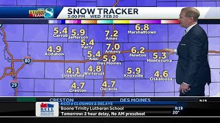 Winter storm warning issued through Wednesday
