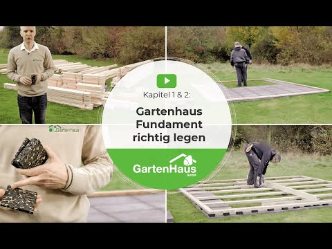video anleitung fundament f r gartenhaus legen. Black Bedroom Furniture Sets. Home Design Ideas