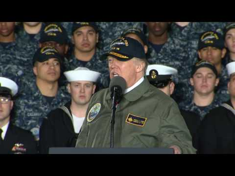 President Trump Visits Aircraft Carrier PCU Gerald R. Ford (CVN 78)