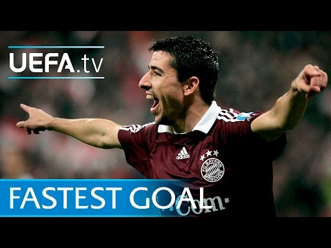 Roy Makaay scores after 10 seconds - UEFA Champions League quickest goal