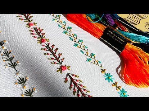 Hand Embroidery |Decorative stitches| Декоративные швы