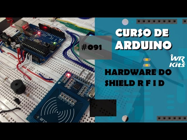 HARDWARE DO SHIELD RFID | Curso de Arduino #091