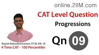 Solution for CAT Qn - 5 Geometric Progression, Diff: 2.5/5