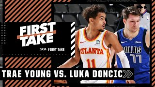 Trae Young or Luka Doncic: Who would you build your NBA franchise around?   First Take