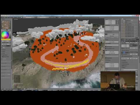 Virtual landscapes with Blender Terrain Tools