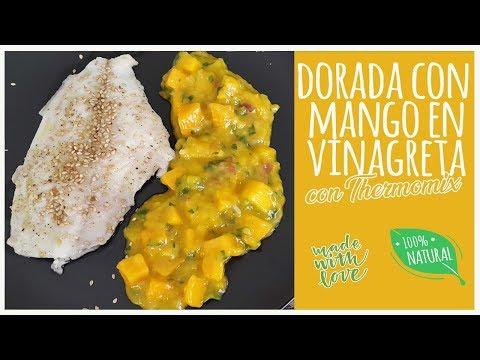 Dorada con mango en vinagreta con Thermomix