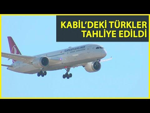 Beklenen Uçak Geldi! Kabil'den Türkleri Getiren THY Uçağı İstanbul Havalimanı'na İndi