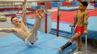 GYMNASTICS STRENGTH CHALLENGE w/ INJURIES | *THE REMATCH*