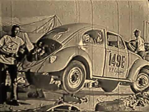 Préparatifs de la VW de Dick Beith pour un record à Bonneville 1961