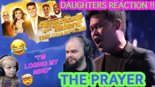 METALHEADS DAUGHTER REACTS TO - MARCELITO POMOY - THE PRAYER ( AMERICAS GOT TALENT ) !!