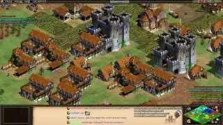 Aoe2 HD: 3v5 Black Forest (Goths, Infantry Spam)