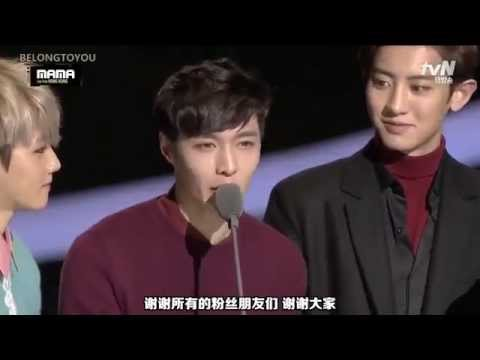 【中字】151202 MAMA Global Fan's Choice Male Award EXO受赏CUT