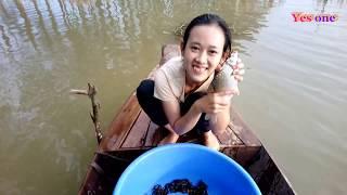 người đẹp đi dở lợp nhận cái kết thật bất ngờ ???/ beautiful girl catch eel big is amazing