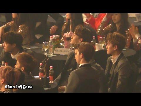 150122 52 during BEAST B2ST 비스트 ビースト Good Luck 12:30 EXO Baekhyun @ SMA 서울가요대상 artists seat