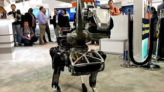 BOSTON DYNAMICS SPOTMINI ROBOT UNEXPECTEDLY ATTACK THE HUMAN