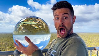 Can This SOLID GLASS BALL Survive a 45m Drop?