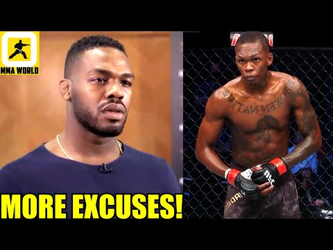 Jon Jones reacts to Israel Adesanya being uninterested to fight him next even if he wins 205lb belt