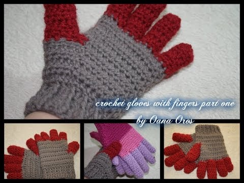 Crocheting With Fingers : crochet gloves with fingers part one