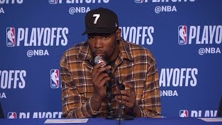 Kevin Durant Postgame Interview - Game 1 | Rockets vs Warriors | 2019 NBA Playoffs