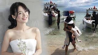 Hé lộ hình ảnh Trường Giang ga-lăng cõng Nhã Phương xuống tàu, cưới xong chiều vợ như bà hoàng!