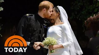 See Prince Harry And Meghan's Kiss On The St. George's Chapel Steps | TODAY