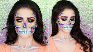 Pastel Rainbow Skull | Halloween Makeup Tutorial