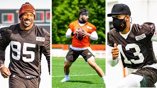 Baker Mayfield, Odell Beckham Jr LEAD Cleveland Browns At First Official Practice!