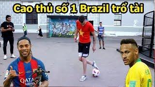 Thử Thách bóng đá World Cup 2018 với Vua Bóng Đá đường phố Brazil đệ của Ronaldinho và Neymar