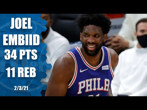 Joel Embiid puts up double-double vs. Hornets  [HIGHLIGHTS] | NBA on ESPN