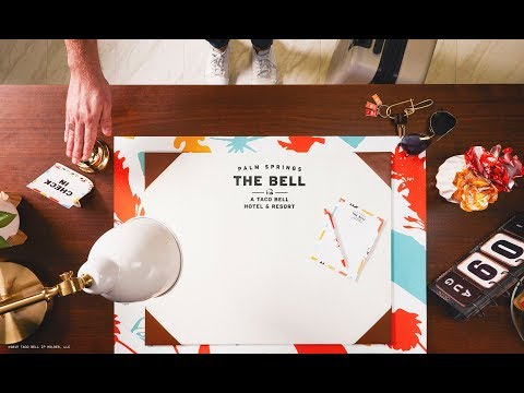 Taco Bell is adding a spicy twist to summer travel – Beginning August 9 for a limited time, doors will open at The Bell: A Taco Bell Hotel and Resort in Palm Springs, California, making fans' dreams come true with an immersive way to celebrate the best of the brand.