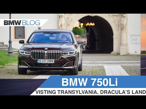 BMW 750Li in Royal Burgundy goes for a ride in the Land of Dracula