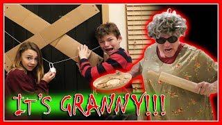 REAL LIFE GRANNY GAME IN GRANNY'S CABIN | We Are The Davises