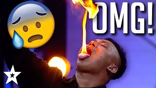 HILARIOUS FIRE BREATHERS Do Crazy Stunts on Thailand's Got Talent | Got Talent Global