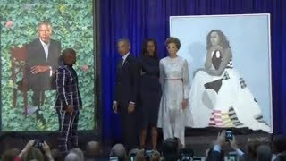 New Barack And Michelle Obama Portraits Unveiled | Los Angeles Times
