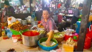 Market Street Food In Phnom Penh - Popular Breakfast And Fresh Foods