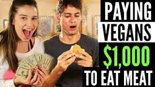 PAYING VEGANS $1000 TO EAT MEAT!