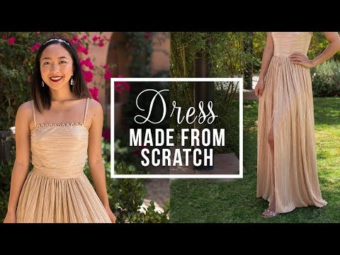 DIY Long Dress with Slit (NO ZIPPER) | Made From Scratch