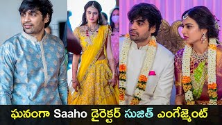 Saaho movie director Sujeeth engagement photos with Praval..