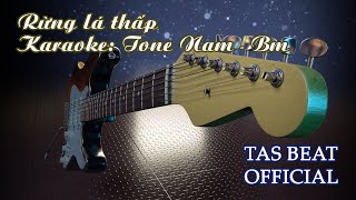 Karaoke Rừng lá thấp - Tone Nam | TAS BEAT
