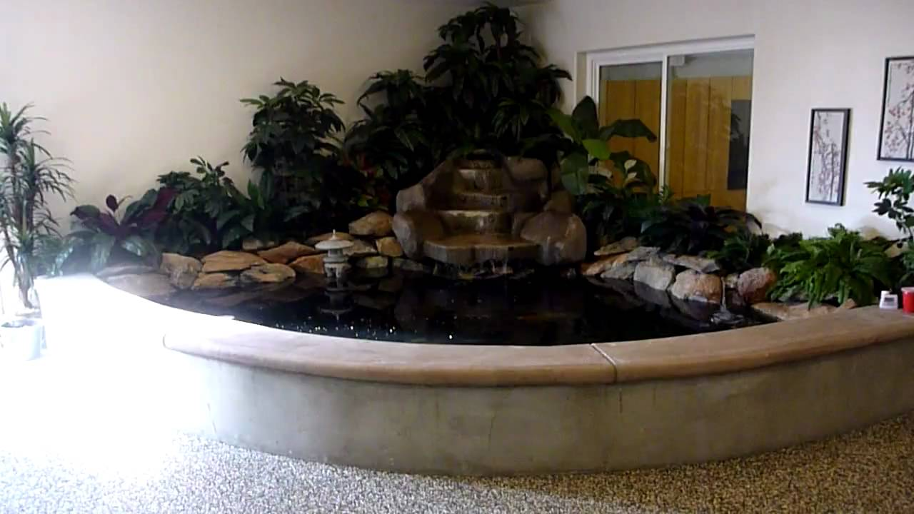 My indoor koi pond youtube for Indoor koi pool