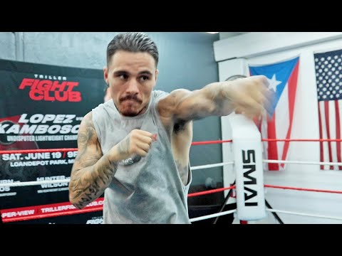 GEORGE KAMBOSOS JR SHOWING OFF PACQUIAO LIKE SPEED DAYS AWAY FROM TEOFIMO LOPEZ FIGHT