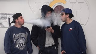 Aggressively Vaping In People's Faces