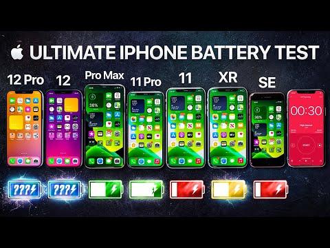 iPhone 12 vs iPhone 12 Pro / 11 Pro Max / 11 Pro / 11 / XR / SE Battery Life DRAIN Test.