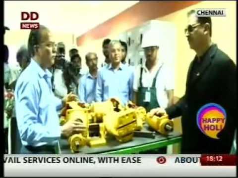 Rajiv Pratap Rudy - Union Minister visited SCHWING Stetter Operator Training School @ Chennai