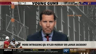 ESPN FIRST TAKE | Will Cain DEBATE: More intriguing QB: Kyler Murray or Lamar Jackson?