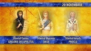 Sfintii zilei - 20 noiembrie