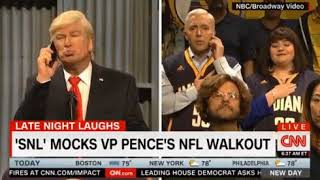 SNL Saturday Night Live Mocks VP Pence's NFL Walkout by suggesting other walkouts