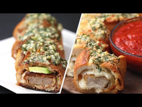 5 Delicious Stuffed Garlic Bread Recipes ? Tasty
